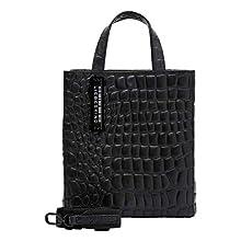 Liebeskind Berlin 899-PaperbS20-Croco-black, Sac à l'épaule Femme, Noir 9999, Small