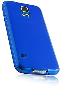 mumbi Schutzhülle Samsung Galaxy S5 Hülle transparent blau