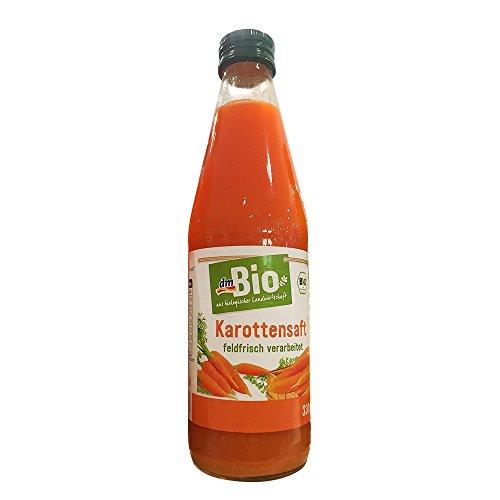 dmBio Karottensaft feldfrisch verarbeitet, 330ml Glasflasche