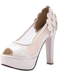 YE Damen Slingback Sandalen Trichterabsatz Spitze Pumps mit Riemchen Spitze und Kleinem Absatz Elegant Schuhe