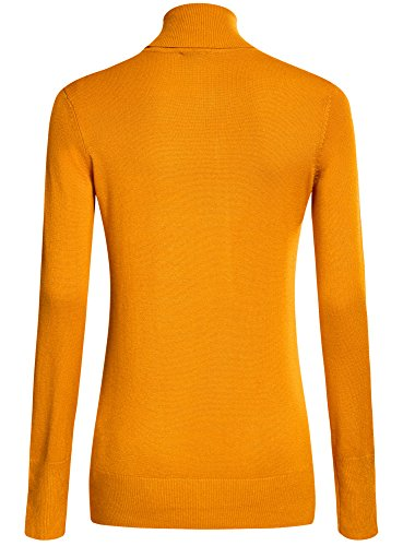 oodji Collection Donna Maglione Basic in Viscosa Giallo (5200N)