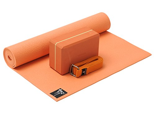 Yoga-set Kick-it (tapis De Yoga + Yoga Bloc + Yoga Ceinture) Terracotta Yogistar
