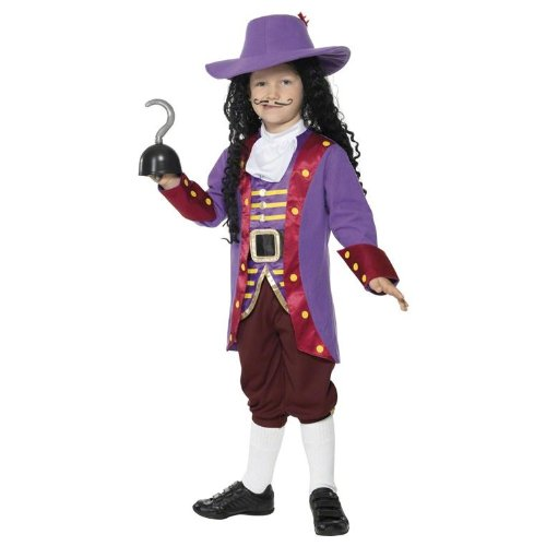 Captain Hook Piratenkostüm Kostüm Pirat Kinder Gr. 128-134 (M), 140-158 (L), Größe:L