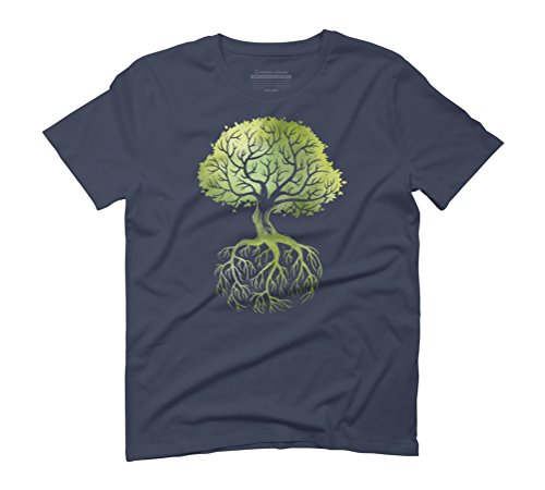 Roots Men's Graphic T-Shirt - Design By Humans Navy