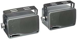 Pyle PLMR24S 100W Argent haut-parleur - Hauts-parleurs (3-voies, 2.0 canaux, Avec fil, 100 W, 70 - 21000 Hz, Argent)