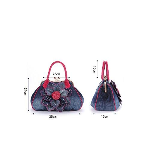 Taschen Handtaschen Damen Einfach Henkel Tasche Elegant wasserdichte Handtasche Kunstleder Schultertasche Farbe 3