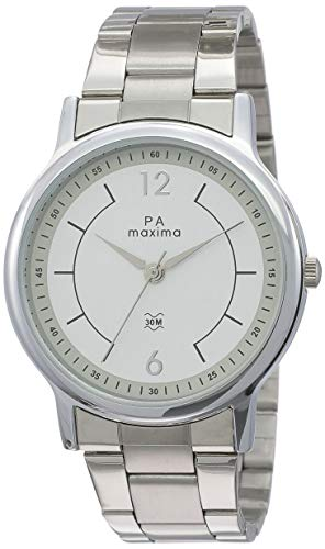 MAXIMA Analog White Dial Men's Watch-48270CMGI