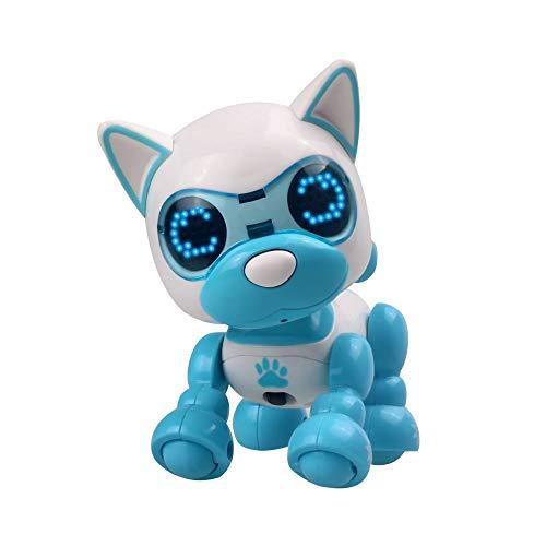 LCLrute LED Augen Tonaufnahme Singen Schlaf nettes Spielzeug Smart Roboter Hund Kinder Spielzeug Intelligent Reden Roboter Hund Spielzeug Elektronische Haustier Geburtstag Geschenk (Blau)