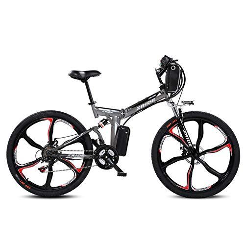 JPFCAK, Bicicleta Plegable Eléctrica Ciudad Bicicleta Bicicleta De Carretera Hombre/Mujer 250 W...