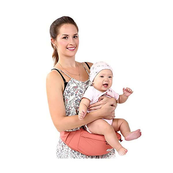 SONARIN Front Premium Hipseat Baby Carrier, Multifunctional, Ergonomic, 100% Cotton, Butterfly Rotary Buckle, 6 Carrying Positions, Adapted to Your Child's Growing,Ideal Gift(Pink) SONARIN Applicable age and Weight:3-36 months of baby, the maximum load: 20KG, and adjustable the waist size can be up to 47.2 inches (about 120cm). Material:designers choose comfortable and soft 100% cotton fabric, soft color, breathable, no irritation to the baby's skin. Baby carrier also designed anti-friction legs cushion, prevent the carrier to hurt the baby, to the baby comfortable and enjoyable. Description: patented design of the auxiliary spine micro-C structure and leg opening design, natural M-type sitting. Widen the shoulder strap and belt will be effective to disperse the baby's weight to the shoulder and waist, so that mother more effort. EPP seat core, no deformation, baby sitting more comfortable. 4