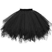 be0a8c0e2f Amazon.es  falda tul negra - Multicolor