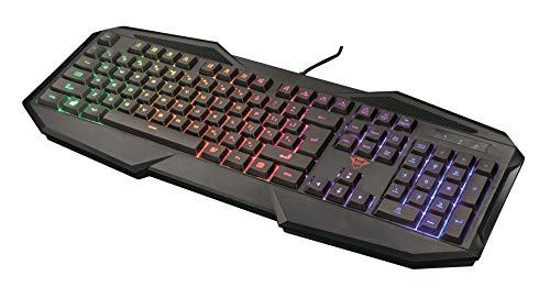 Trust GXT 830-RW Avonn Tastiera Gaming Illuminata, Nero [Layout Italiano]