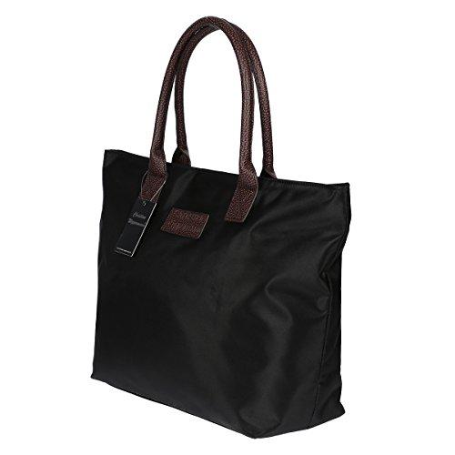 Christian Wippermann® , Cabas pour femme Noir noir/argent 48 x 35 x 20 cm noir