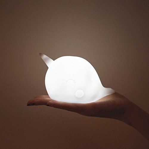 Nari Narwhal Wireless Night Light battery Powered LED Lamp (White) by smoko Inc