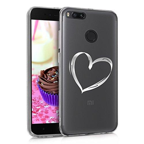 kwmobile Xiaomi Mi 5X / Mi A1 Hülle - Handyhülle für Xiaomi Mi 5X / Mi A1 - Handy Case in Silber Transparent
