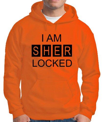 Touchlines Herren Kapuzen Pullover I AM SHER LOCKED Sweatshirt, Orange, M, B230713KS Preisvergleich