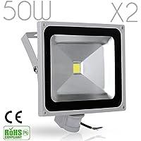 2X 20W 12V LED Flutlicht Strahler Außenbeleuchtung Scheinwerfer IP65 Warmweiß
