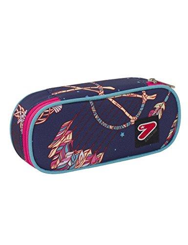 Portapenne round plus scuola seven the double - dreamy - azzurro blu - porta penne