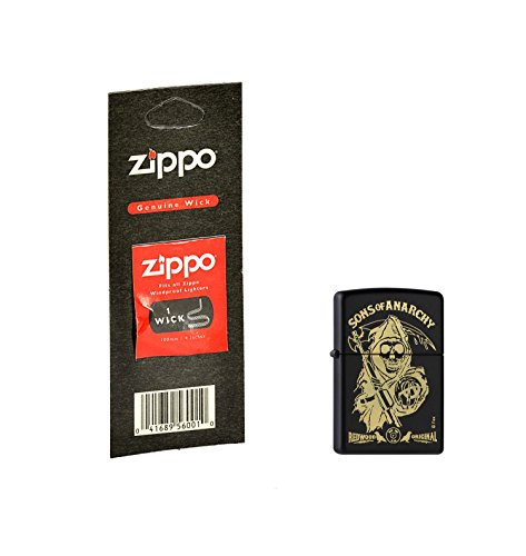 Zippo, Accendino, motivo: Sons of Anarchy, con stoppino di ricambio, Zippo Collection 2015, Argento (Edelstahloptik)