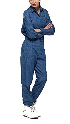 OnePiece Damen Jumpsuit Momentum, Blau (Denim Blue), 36 (Herstellergröße: S) - 3