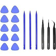 Portátil herramienta de reparación de escritorio: ESD Pinzas Conjunto, picos de apertura y spudger