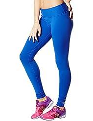 Zumba Fitness Perfect Capri - Mallas para mujer, color azul, talla S