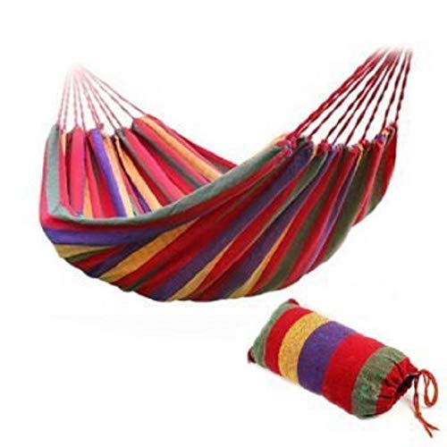 Yj amaca all'aperto in morbido cotone tessuto brasiliano amaca per 2 persona, ideale per giardino, terrazza, balcone e campeggio - 190 x 90 cm