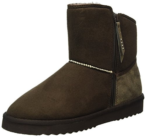 ESPRIT Uma Zip Bootie, Stivaletti Donna, Marrone (200 Dark Brown), 40 EU