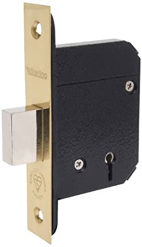 Sterling MLD525BS 2.5-inch/67mm 5-Lever Mortice Deadlock - Brass