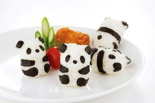 onewiller 3D Reis Ball Form mit Nori Punch Sushi Panda Form Mini-eis Ball Mold