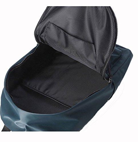 Männer Schulter Student Bag Personalisierte Street Fashion Rucksack Laptop Tasche Daypack,Black Gray