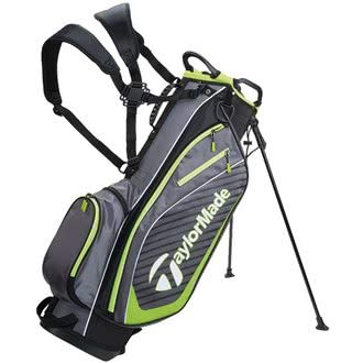 TaylorMade Golf 2018 Pro Stand 6.0 Stand Bag Mens Carry Bag 6 Way Divider Charcoal/Black/Green
