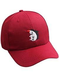 QUICKLYLY Gorra Bebe Verano Niño Niña Tartán Bordado Ajustable Sombrero de  Béisbol ... c1a7d82215b