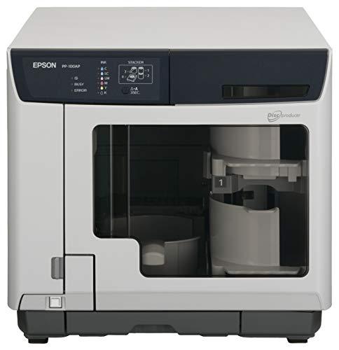 Epson Discproducer PP-100AP, Drucker für CD/DVD, Farbe, Tintenstrahldrucker, CD (120mm) 1440DPI x 1440DPI bis zu 1,58Discs/min (Mono)/bis zu 1,58Discs/min (Farbe), Kapazität: 100USB-Discs -