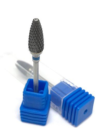 Fräser Aufsatzbit Hartmetall Bit Birnenform in Fein / Mittel / Grob für Gelmodellage, Acrylmodellage sowie Podologie (Mittel)