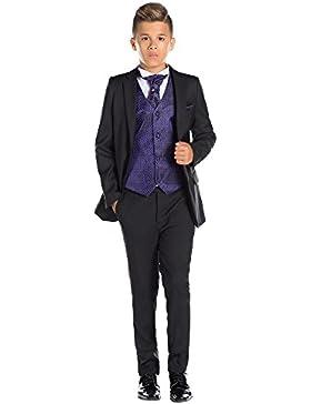 Paisley of London, negro para chicos Suit, disfraz para niño de Honor, disfraz de Bal, 12–18meses–13años