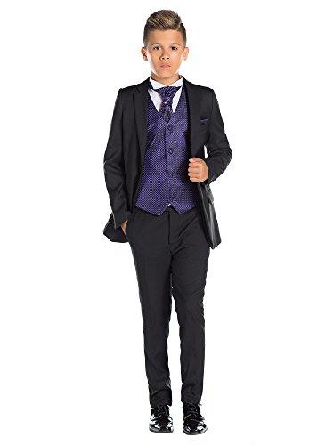 Paisley of London, schwarz für Jungen folgt, Kostüm Jungen Stinkefinger, Kostüm, KTV, 12-18Monate-13Jahre Gr. 7 Jahre, (Kostüm Cravate Noir)