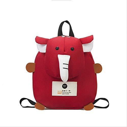 Kindergarten Schultaschen, Jungen Und Mädchen Niedlichen Kleinen Elefanten Kinder Kinder Baby Wind Rucksack Kind Dekompression, Süße Cartoon Baby rot -