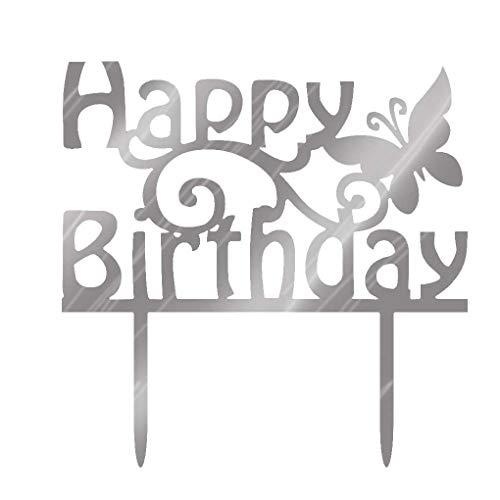 Kineca Quadrat Rund Alles Gute zum Geburtstag Brief-Kuchen-Deckel Acryl DIY Kuchen-Kuchen-Smash-Kerze-Partei-Handmade-Stick
