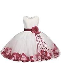 GUOCU Abito Bambina Principessa Vestito da Cerimonia per Damigella con  Bowknot Floreale Abiti per Matrimonio Carnevale a1218ad1cb9