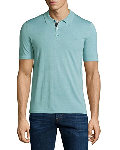 BURBERRY BRIT - Herren Polo OXFORD - türkis, S