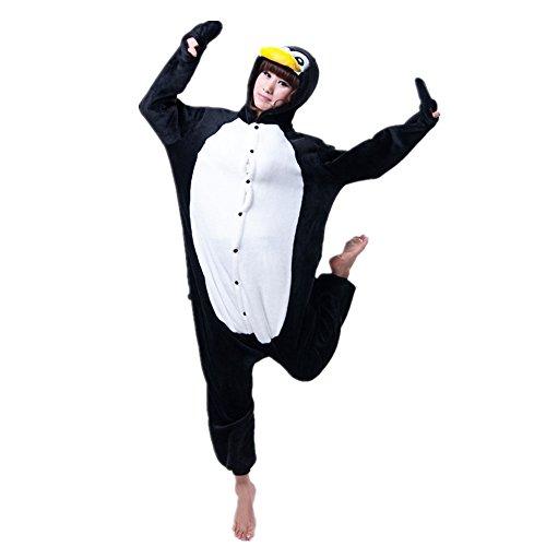 Misslight unicorno animali pigiama unisex cosplay carnevale costume pigiami camicie da notte per adulti e bambini (l, pinguino)