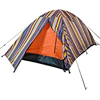 Mountain Warehouse Patterned Festival Dome Double Skin 2 Man Tent with Groundsheet - Waterproof, Ventilated, Front Porch Storage - Ideal for Summer Camping Trips, Music Festivals