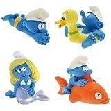 Plastoy Los Pitufos - Juego de juguetes para la bañera (4 piezas)