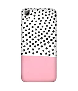 Polka and Pink Back Cover Case for HTC Desire 626