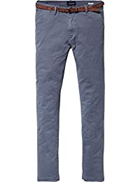 Scotch & Soda Herren Hosen Classic Garment Dyed Chino Pant in Stretch Cotton Quality