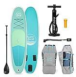 FabricBoard 10 Pulgadas Tablas de Paddle Surf Hinchable, Accesorios Incluidos (Seaweed Green)