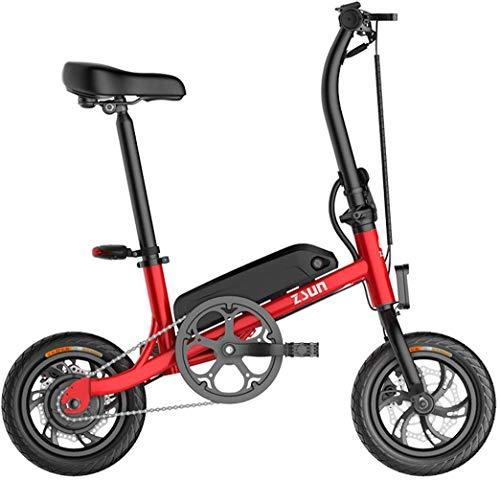 FEE-ZC Universal Adults Folding Electric Mountainbike Tragbares Fahrrad Geschwindigkeit bis zu 40 km/h EBike Pedal Assist with Throttle