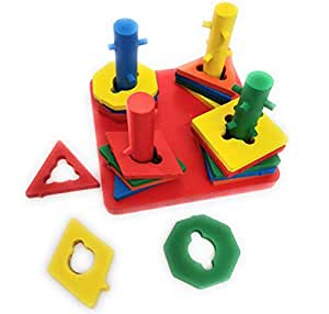 Vivir Intellectual Geometric Shape Matching 4 Column Sorter Toys for Kids- Small