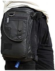 Borsa da Uomo Borsa Gamba Outdoor Marsupio Trekking Borse Viaggio Borsello Casuale Sacchetto Vintage Sport Bag Marsupi per Escursioni